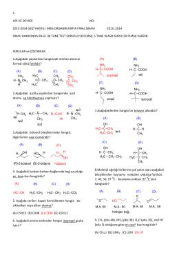 Organik Kimya Final Soruları ve Cevapları (d)