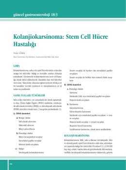 Kolanjiokarsinoma - Güncel Gastroenteroloji