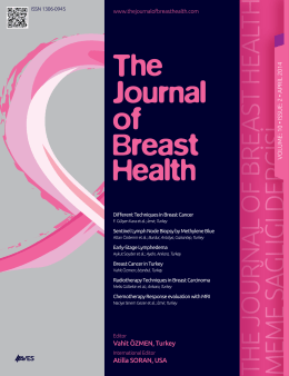 meme sa ğlığı dergisi - The Journal of Breast Health