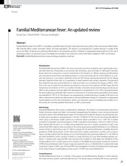 Familial Mediterranean fever - Medical Research and Education