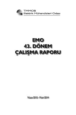 EMO 43. Dönem Çalışma Raporu-TÜM