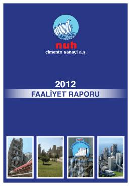 31.12.2012 Faaliyet Raporu (Kitap)
