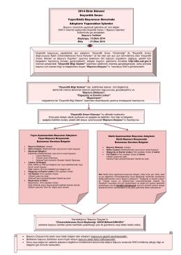 Doçentlik Sınavı Başvuru Dosyası Hazırlama Kılavuzu
