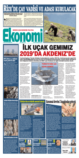 3 OCAK 2015 - Ekonomi Gazetesi