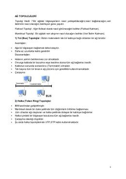 Ağ topolojileri ve TCP/IP protokolü