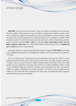 Inox.ege brosur 2013_Layout 1 - İnox Paslanmaz Vida Civata Somun