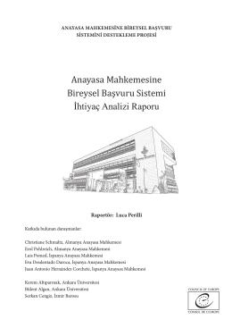 Anayasa Mahkemesine Bireysel Başvuru Sistemi İhtiyaç Analizi