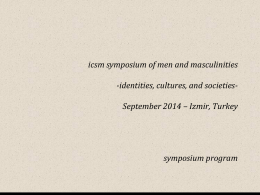 icsm symposium of men and masculinities