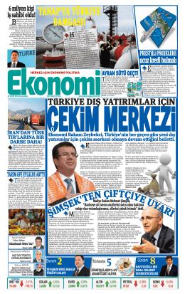 15 EKİM 2014 - Ekonomi Gazetesi