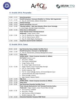 Program (PDF) - 3.Ege Ar-Ge ve Teknoloji Günleri