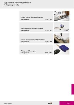 Katalog Hettich mobilya aksesuarları