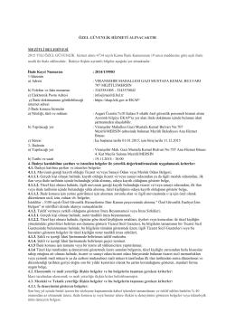 mezitli bld.özel güvenlik ilanı