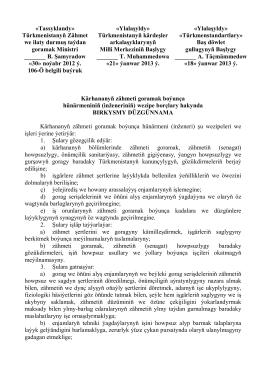 Kärhananyň zähmeti goramak boýunça hünärmeniniň (inženeriniň)