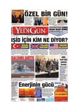 ÖZEL BİR GÜN! - Yedigün Gazetesi