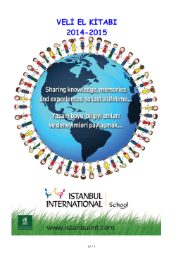 Veli El Kitabı- 2014-2015 - İstanbul International School