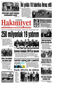 24 ekim.qxd - Çorum Hakimiyet Gazetesi