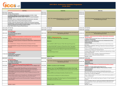 ICCI 2014 Conference Tentative Programme 24.04.2014