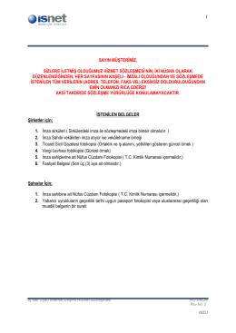 Uydu İnternet Erişimi Hizmet Sözleşmesi-DH