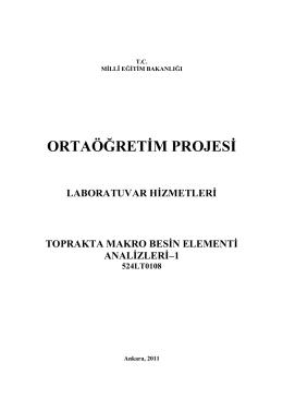 Toprakta Makro Besin Elementi Analizleri -1