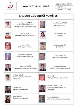 Komite Üyeleri