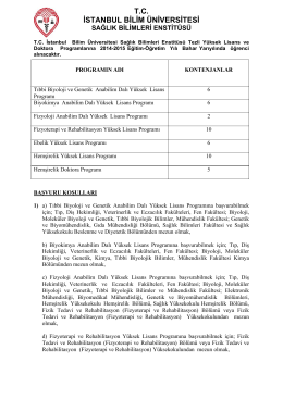 T.C. İSTANBUL BİLİM ÜNİVERSİTESİ