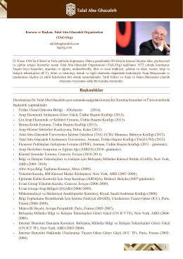 Başkanlıklar - HE Dr. Talal Abu