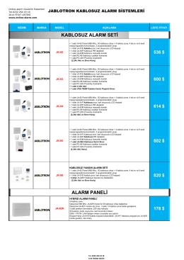 Jablotron Fiyat Listesi - Güvenlik kamera sistemleri, Hırsız alarm