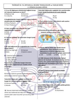 BTY Dersi II. Dönem Çalışma Kağıdını indir