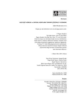 Komisyon ALES EŞİT AĞRILIK ve SAYISAL