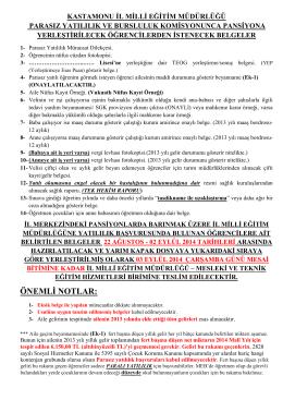 İZİN MUVAFAKAT BELGESİ - Milli Eğitim Bakanlığı