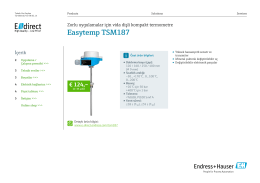 Easytemp TSM187 (PDF 1,87 MB) - E-direct