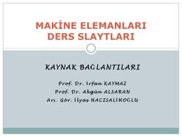 Kaynak Bağlantıları - Mehmet Adem Yıldız