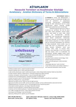 KİTAPLARIM Havacılık Terimleri ve Kısaltmalar