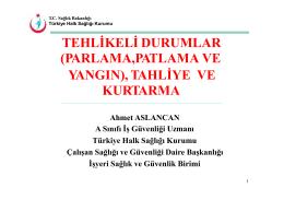 tahliye kurtarma ve - Türkiye Halk Sağlığı Kurumu