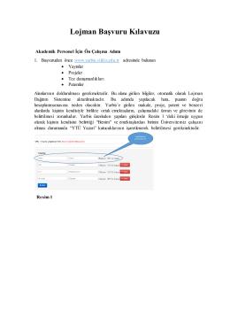 Lojman Başvuru Kılavuzu - YTU Lojman Yönetim ve Dağıtım Sistemi