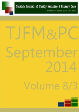 JULY 2014, Volume 8, No 3 - Çukurova Üniversitesi Tıp Fakültesi
