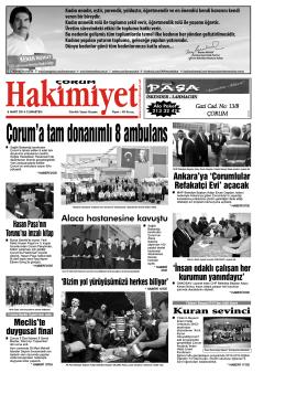 8 mart.qxd - Çorum Hakimiyet Gazetesi