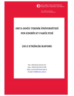 2013 Etkinlik raporunu indirmek için tıklayınız.