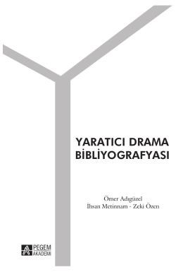 yaratıcı drama bibliyografyası