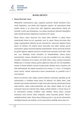 BASMA DENEYİ - Celal Bayar Üniversitesi