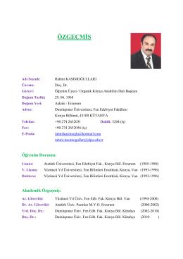 Rahmi KASIMOĞULLARI - Dumlupınar Üniversitesi