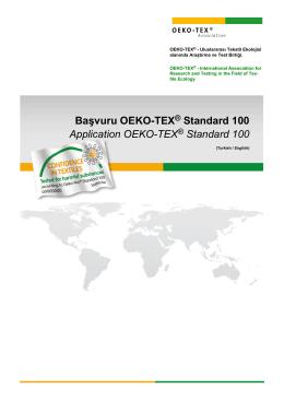 Başvuru - Oeko-Tex