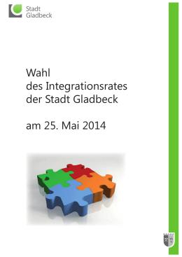 Wahl des Integrationsrates der Stadt Gladbeck am 25. Mai 2014