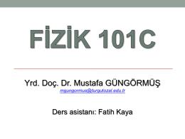 FİZ 103C 8. hafta 1