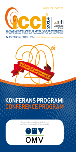 KONFERANS PROGRAMI CONFERENCE PROGRAM th