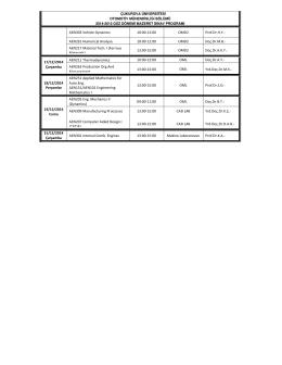 AEN303 Vehicle Dynamics 10:00