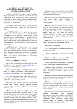E-Posta Talep Formu - Abant İzzet Baysal Üniversitesi Bilgi İşlem