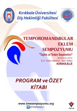 sempozyum program ve bildiri özetleri kitapçığı (pdf)