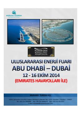 (Microsoft PowerPoint - POWER-GEN 2014 Abu Dhabi Enerji Fuar
