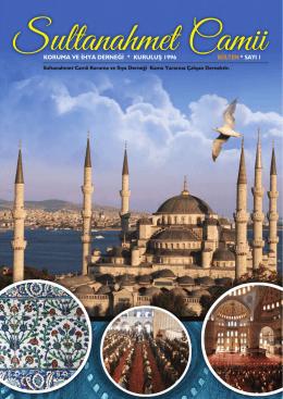 Sultanahmet Camii Koruma ve İhya Derneği Bülten Yıl 2014 Mayıs
